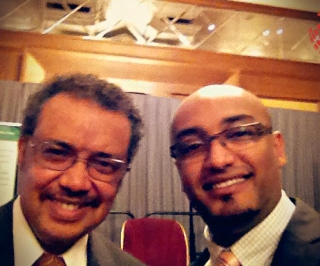 Michael And Dr. Tedros Adanhom